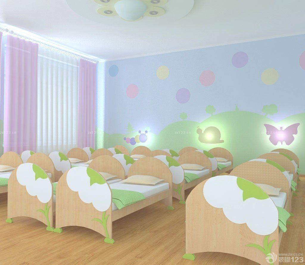 2016最新幼儿园小孩床室内设计摆放效果图片