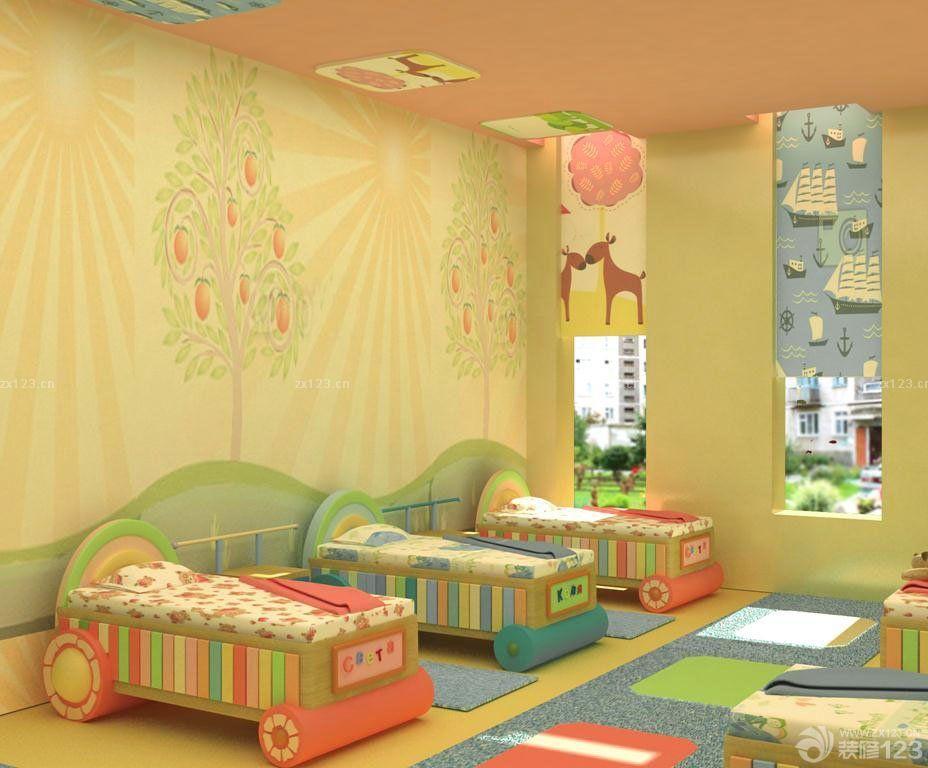 幼儿园小孩床摆放图片大全