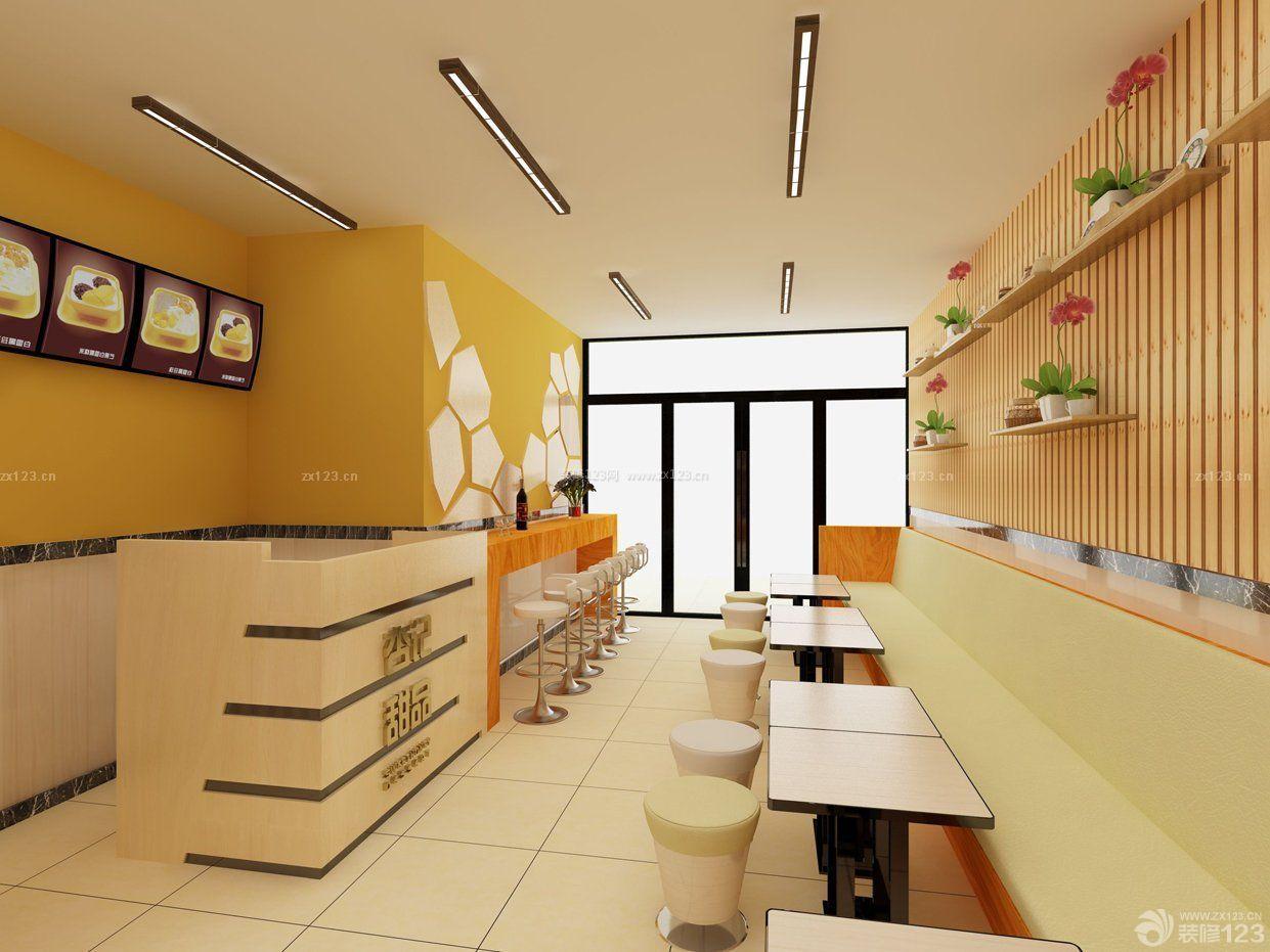 小吃店面吧台装修效果图图片