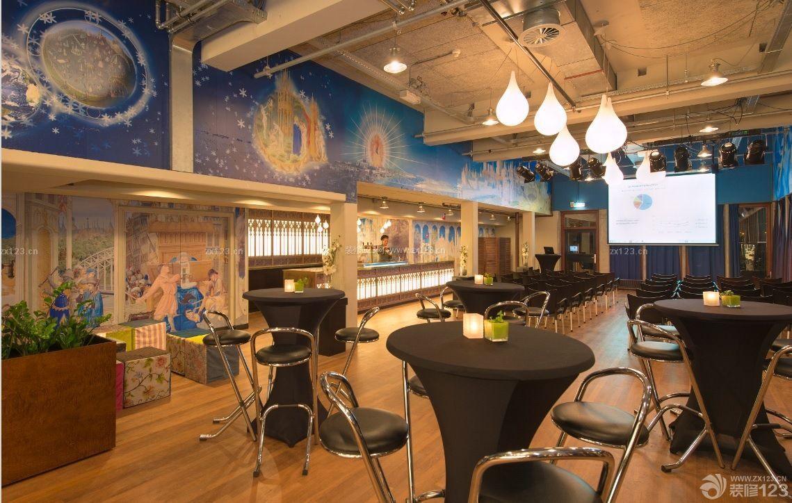 美式酒吧壁画装修效果图大全图片