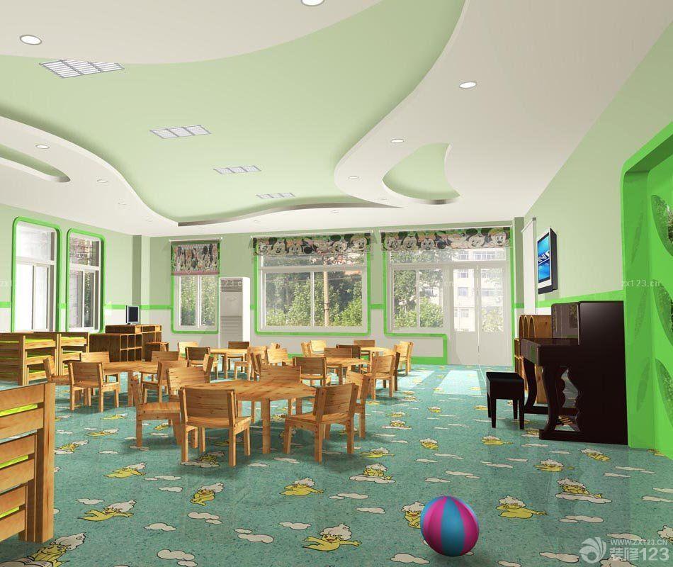 高端幼儿园教室天花板吊顶装修效果图