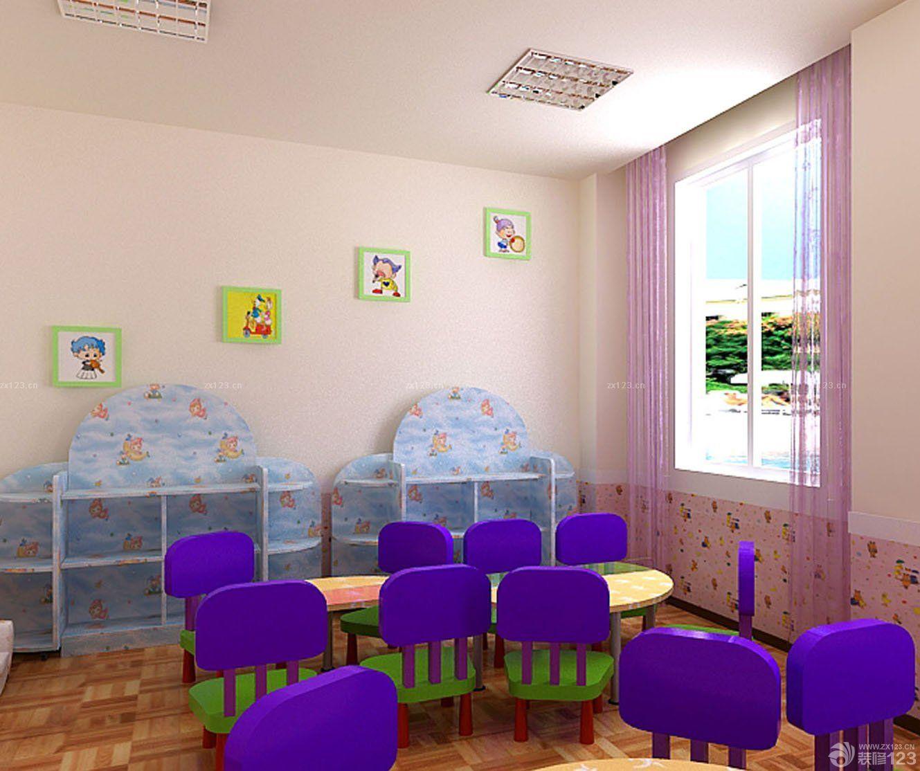 高端幼儿园装修教室窗户设计效果图