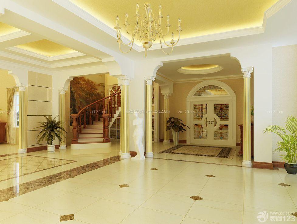 大型别墅设计门口玄关装修效果图