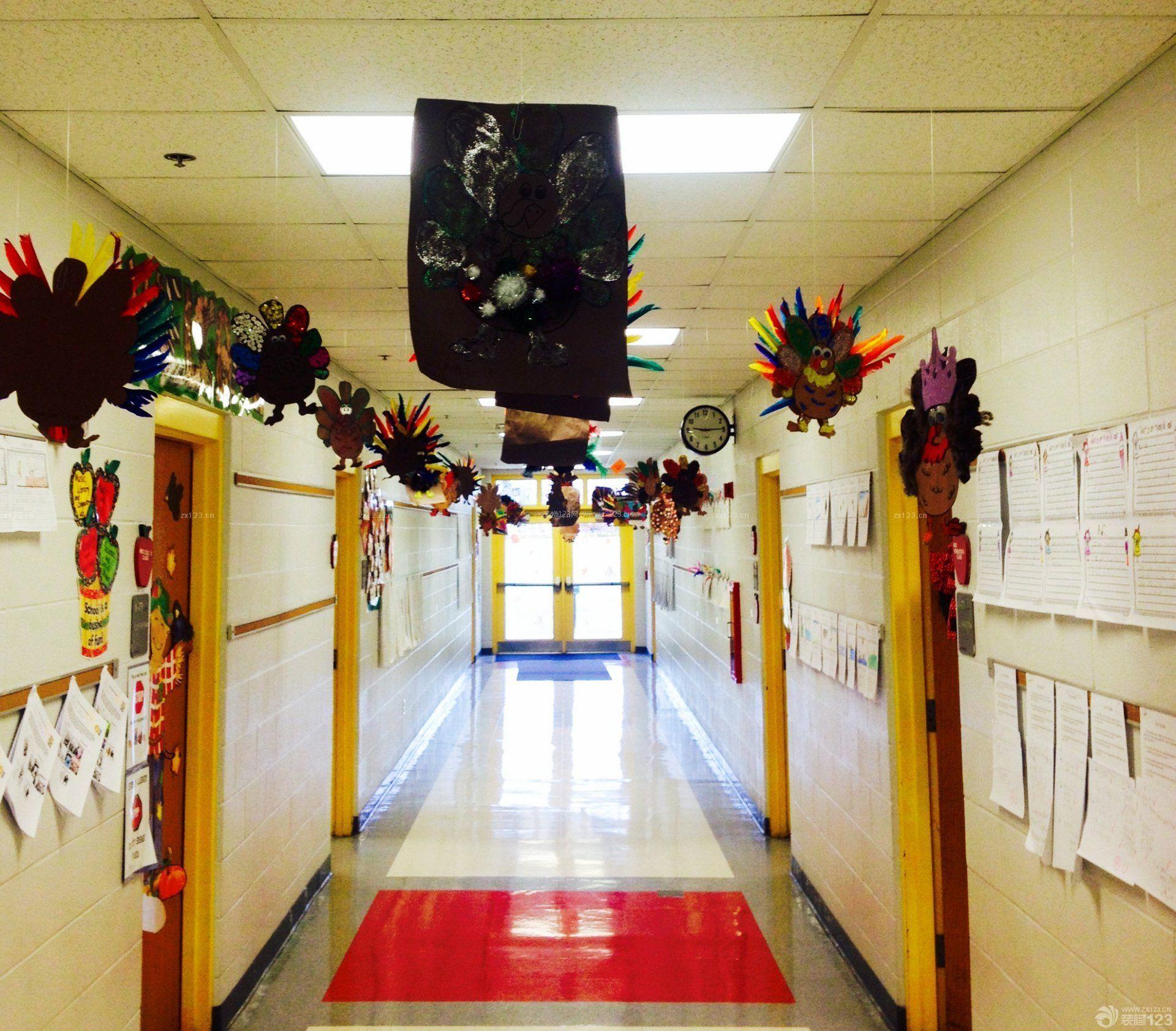 幼儿园走廊吊顶装饰装修效果图片