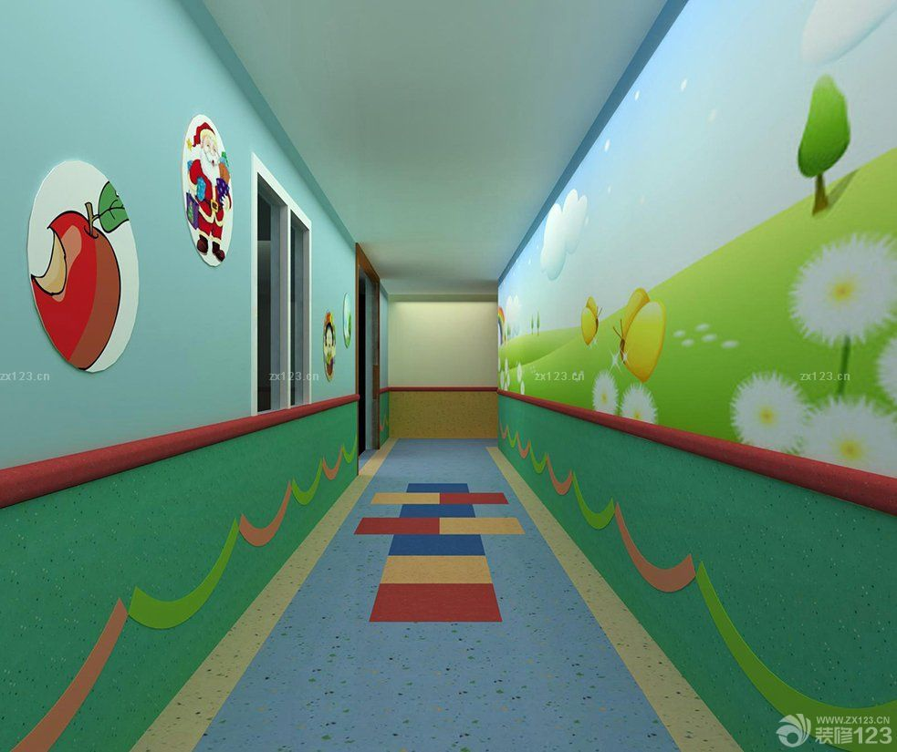 幼儿园室内门设计装修效果图片