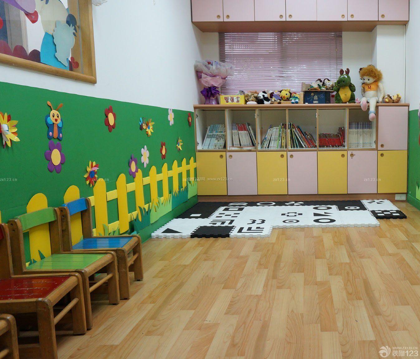 幼儿园室内浅色木地板装修效果图片大全