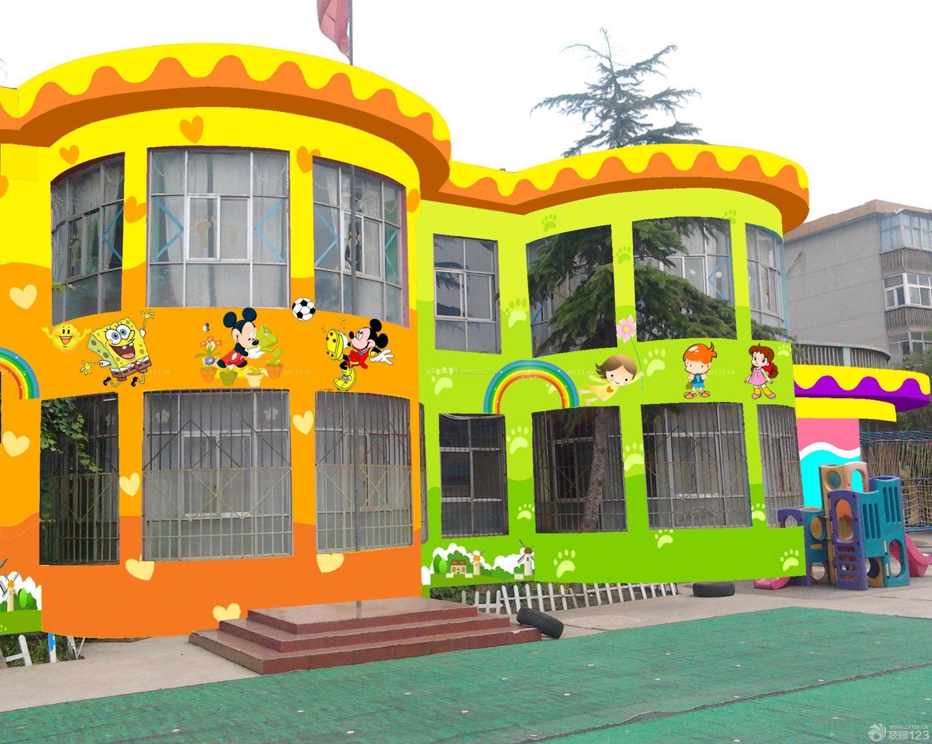 幼儿园外墙彩绘设计图