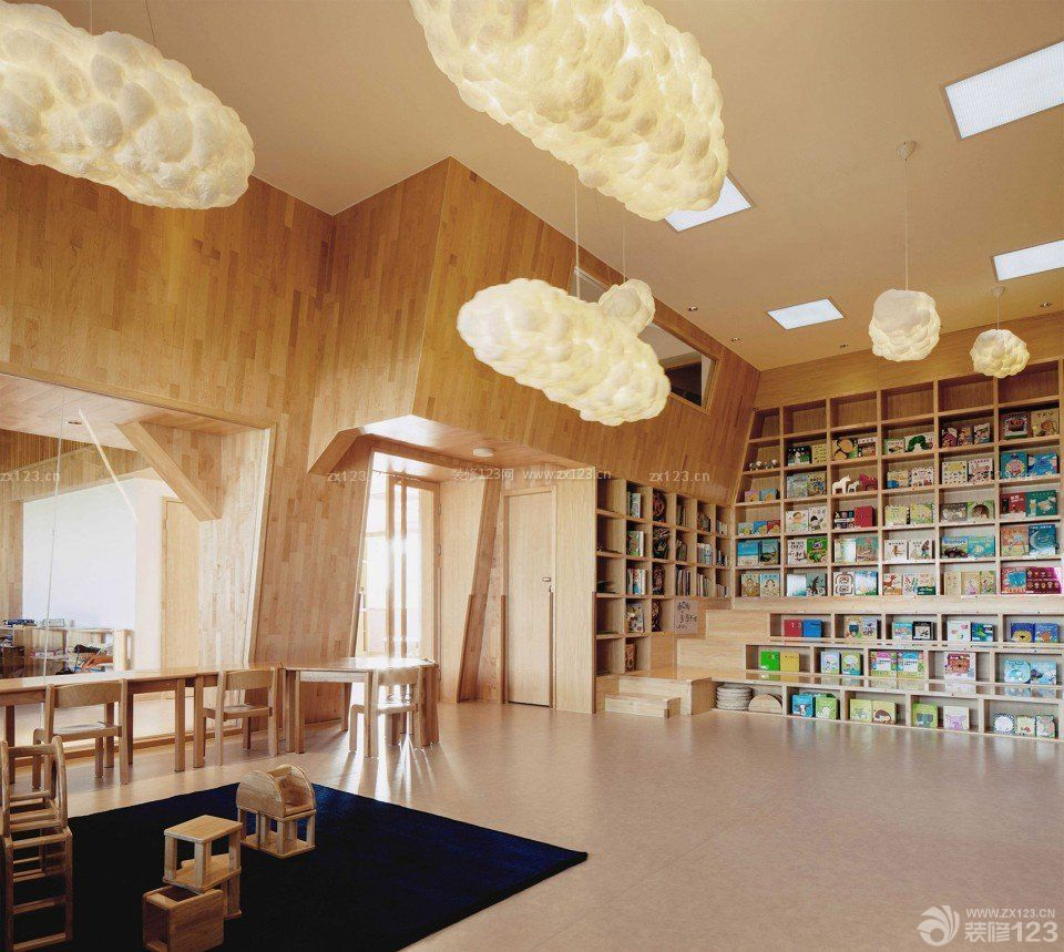 最新幼儿园大厅室内装修设计图片