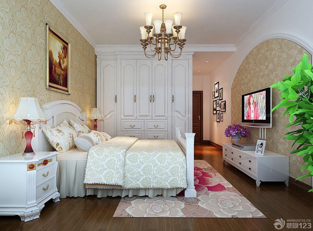 美式乡村风格卧室壁橱装修效果图大全2015图片