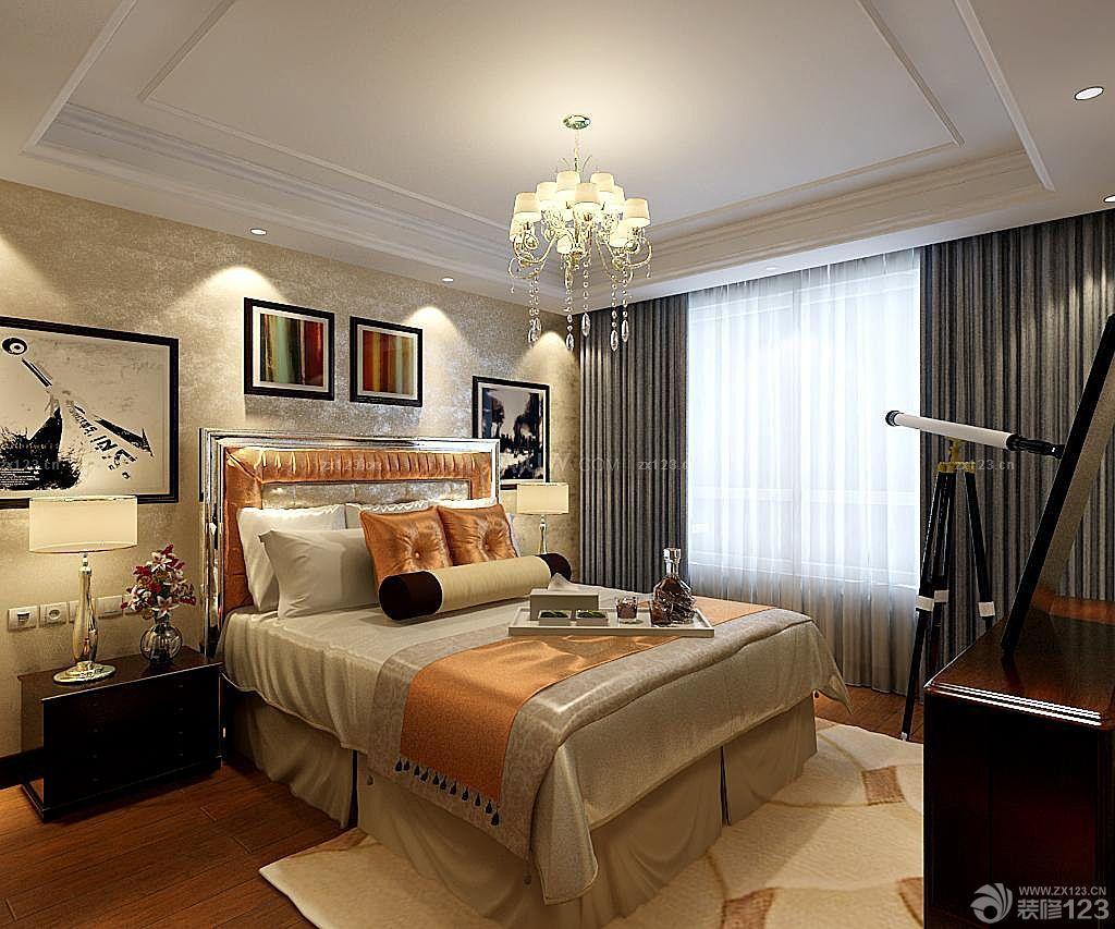 小户型欧式楼房卧室装修效果图片