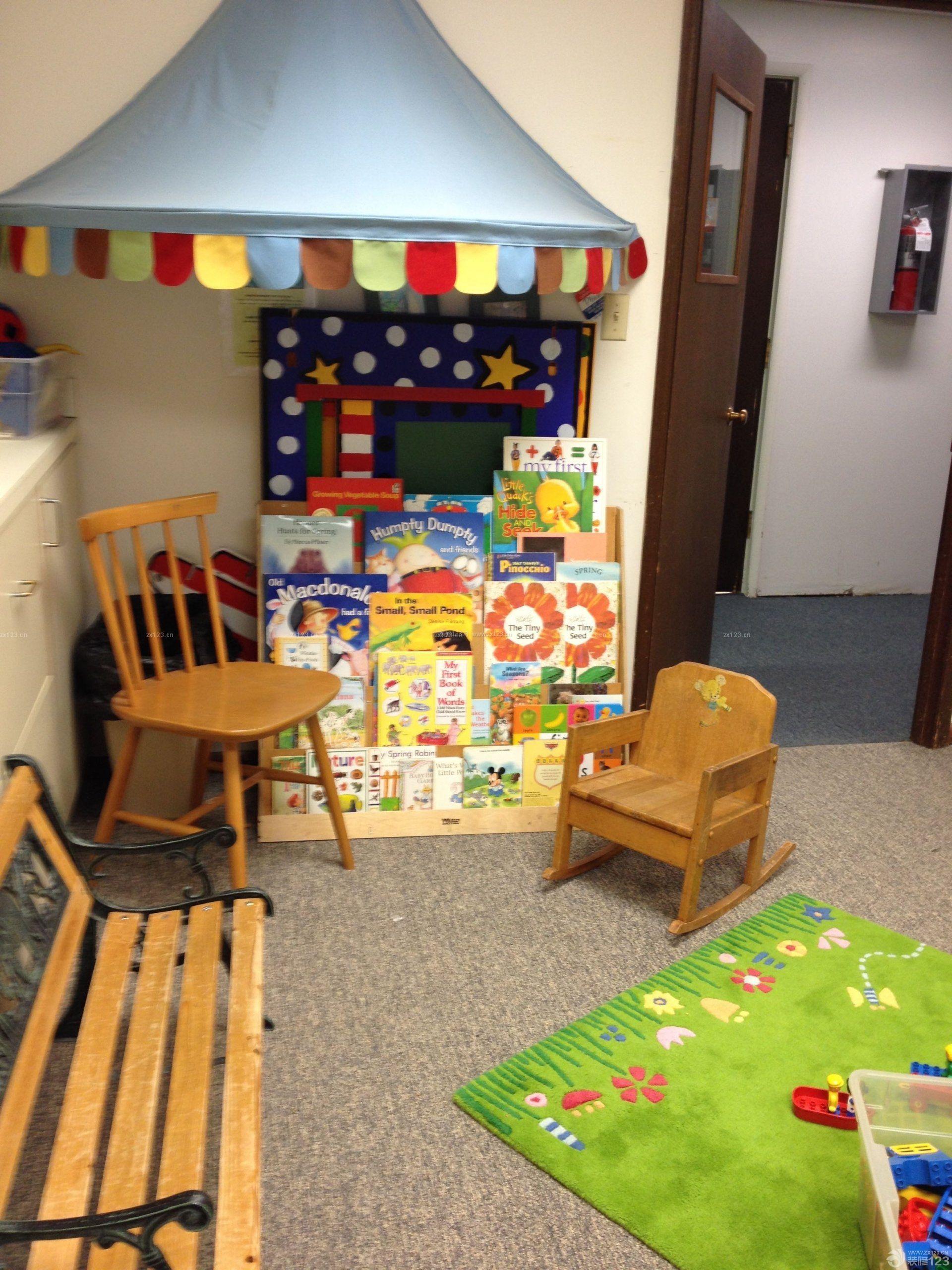 美式幼儿园室内装饰设计效果图图片大全
