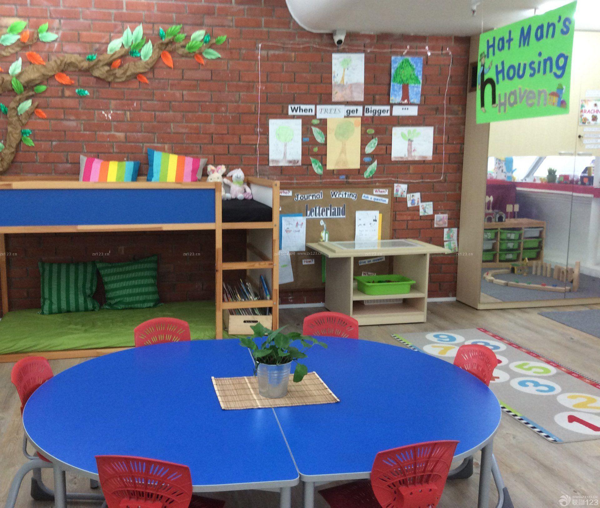 美式幼儿园室内装饰装修效果图片