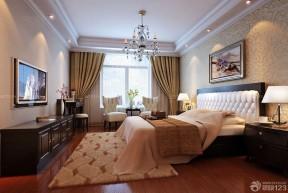 楼房卧室装修图片 压纹壁纸装修效果图片
