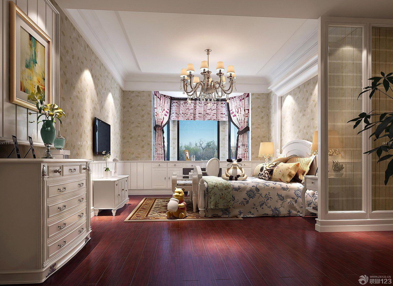简欧式卧室玄关壁画装修效果图