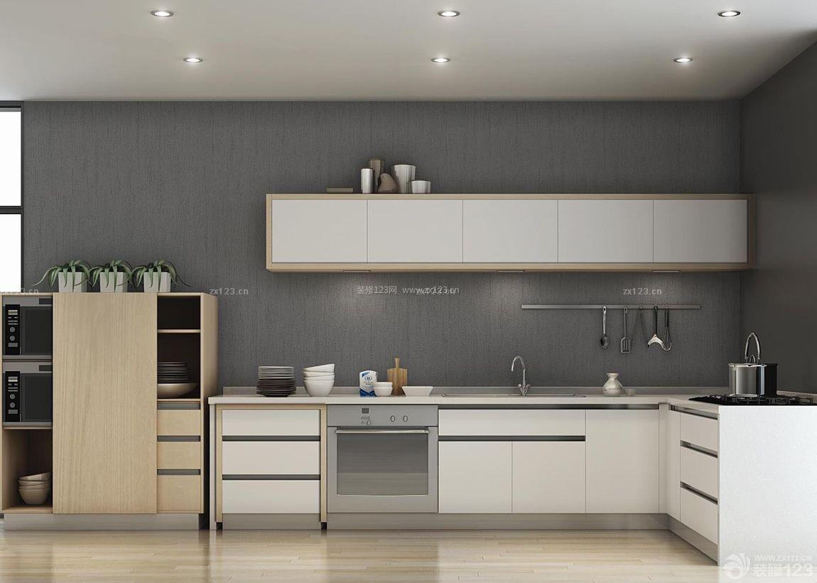 现代风格装修厨房灶台设计效果图