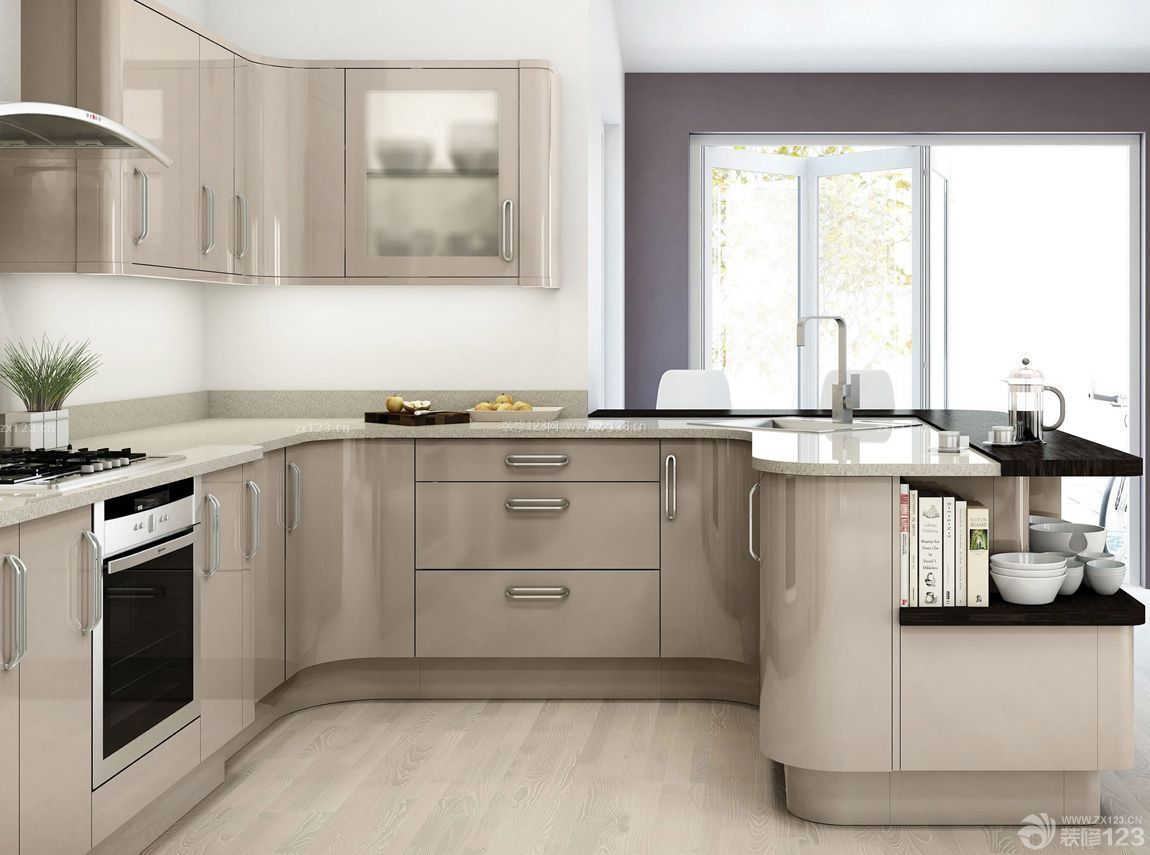 现代农村厨房整体橱柜装修效果图片