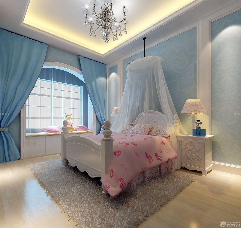 精致儿童卧室屋顶装修效果图