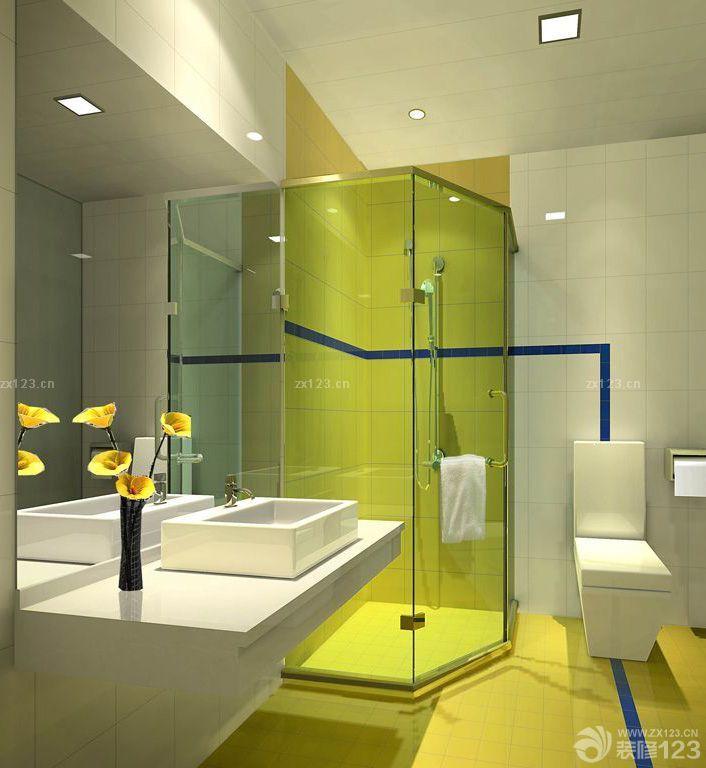 干湿分离卫生间浴室玻璃门装修效果图