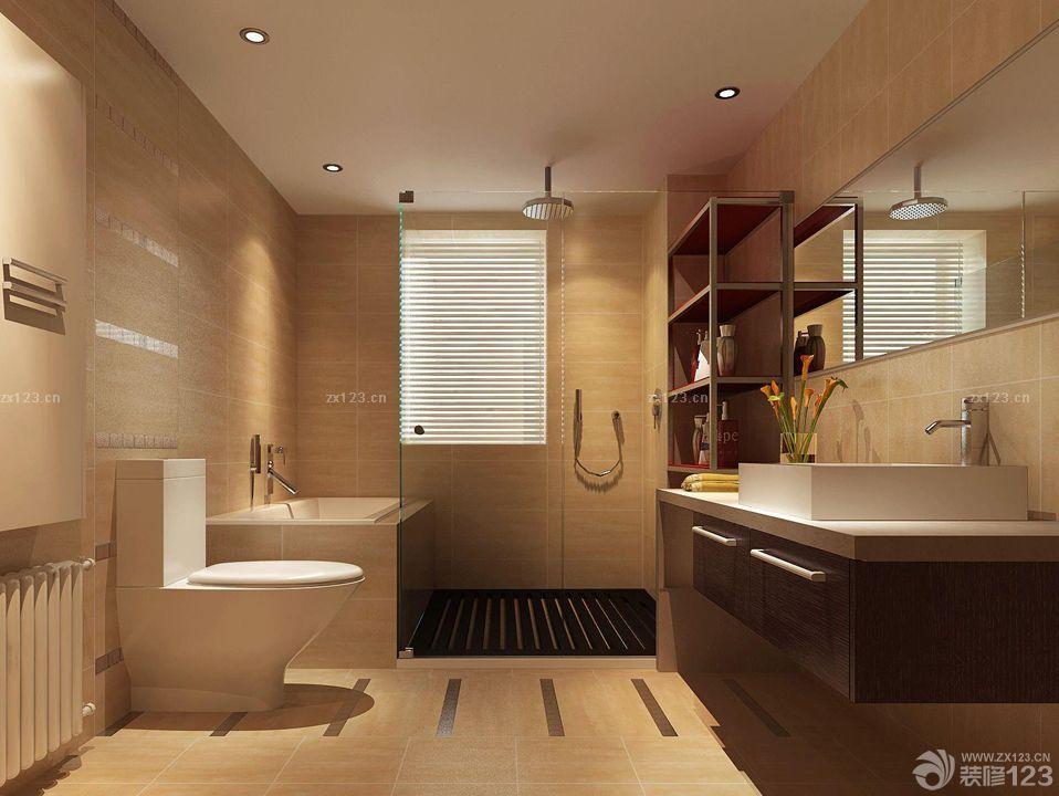 干湿分离卫生间浴室柜装修效果图欣赏
