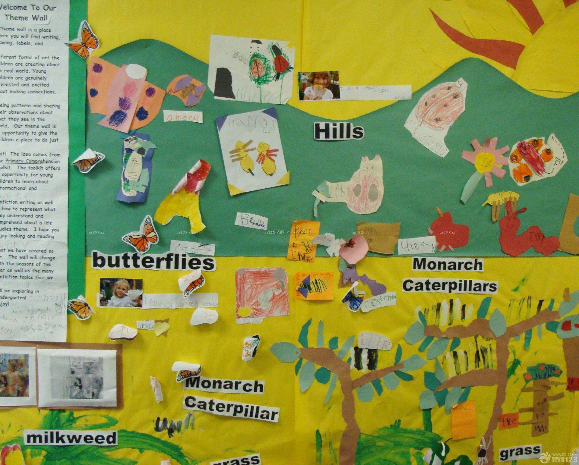 美式幼儿园室内墙面布置图片大全
