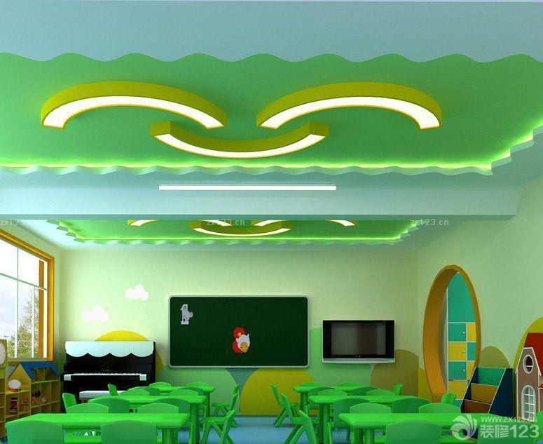 大型幼儿园教室吊顶设计效果图片