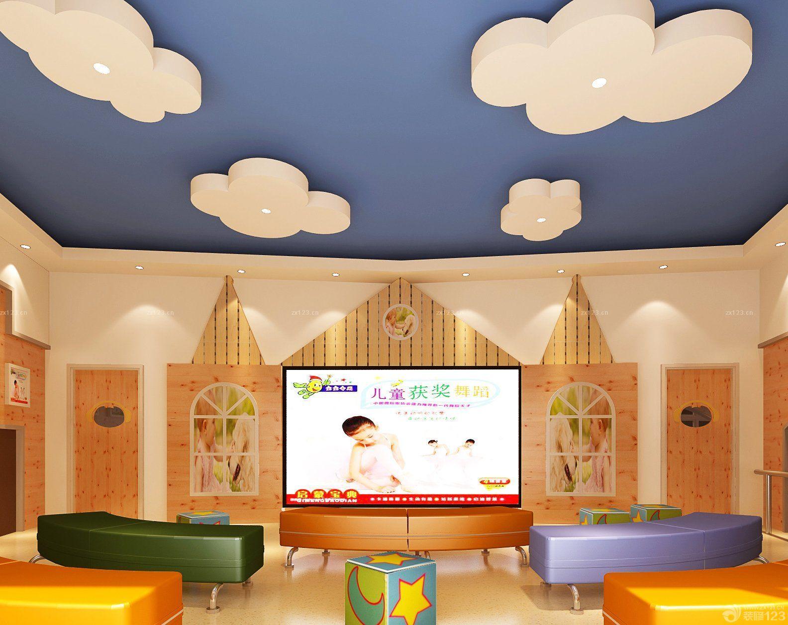 最新幼儿园天花板吊顶设计效果图片