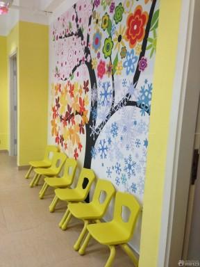 特色幼儿园室内背景墙贴纸装修效果图片