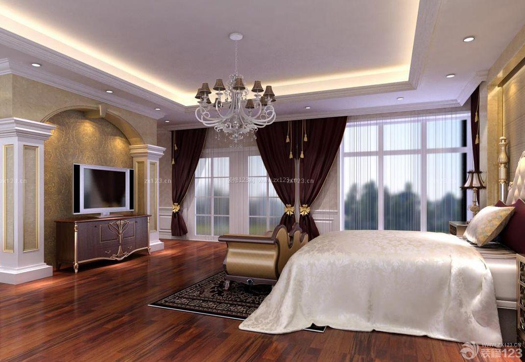 长方形卧室电视背景墙设计装修效果图