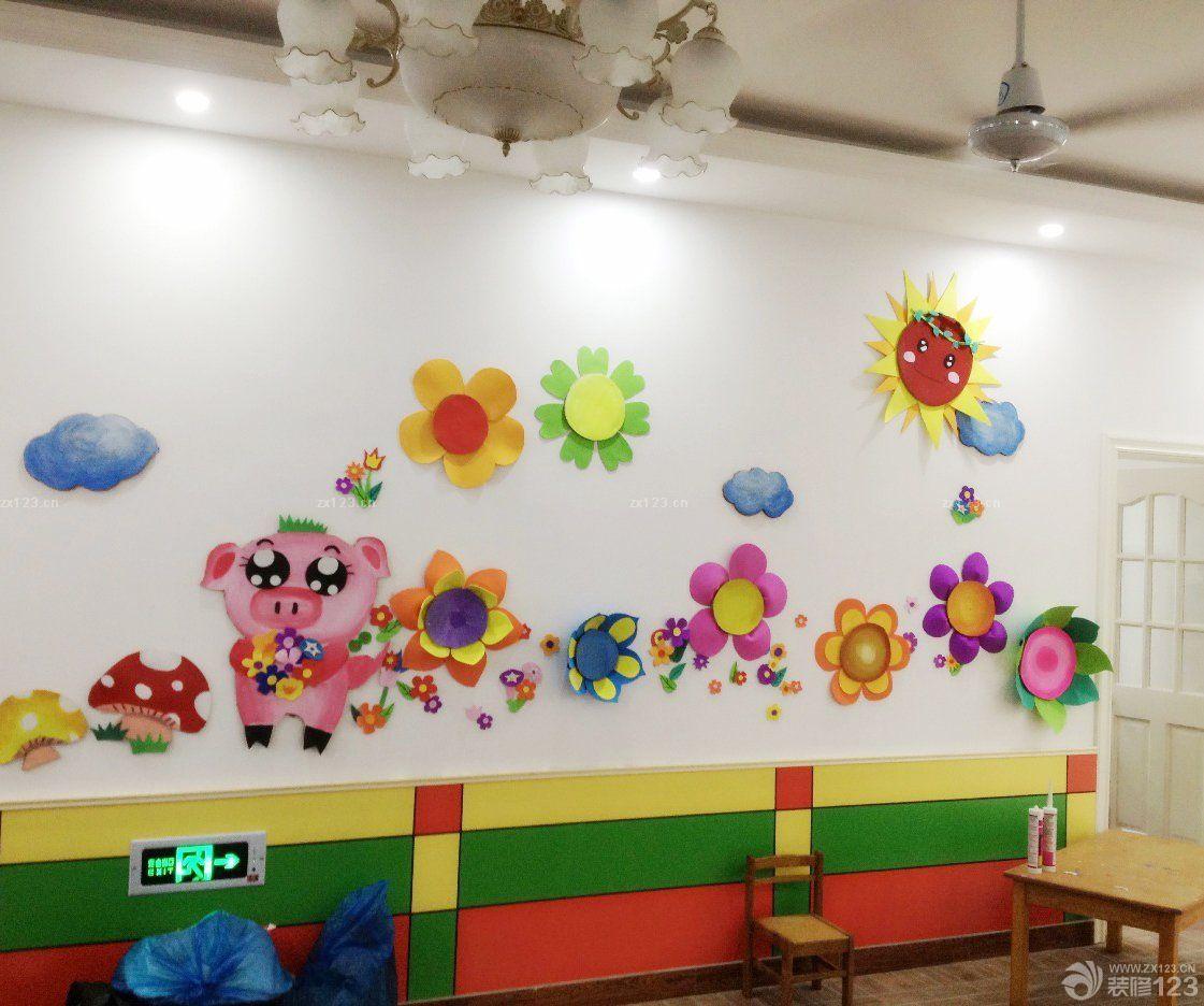 现代幼儿园墙面装饰设计装修效果图片