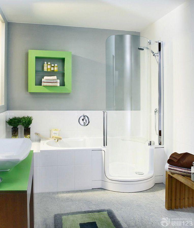 小户型装修厕所浴室隔断图片_装修123效果图