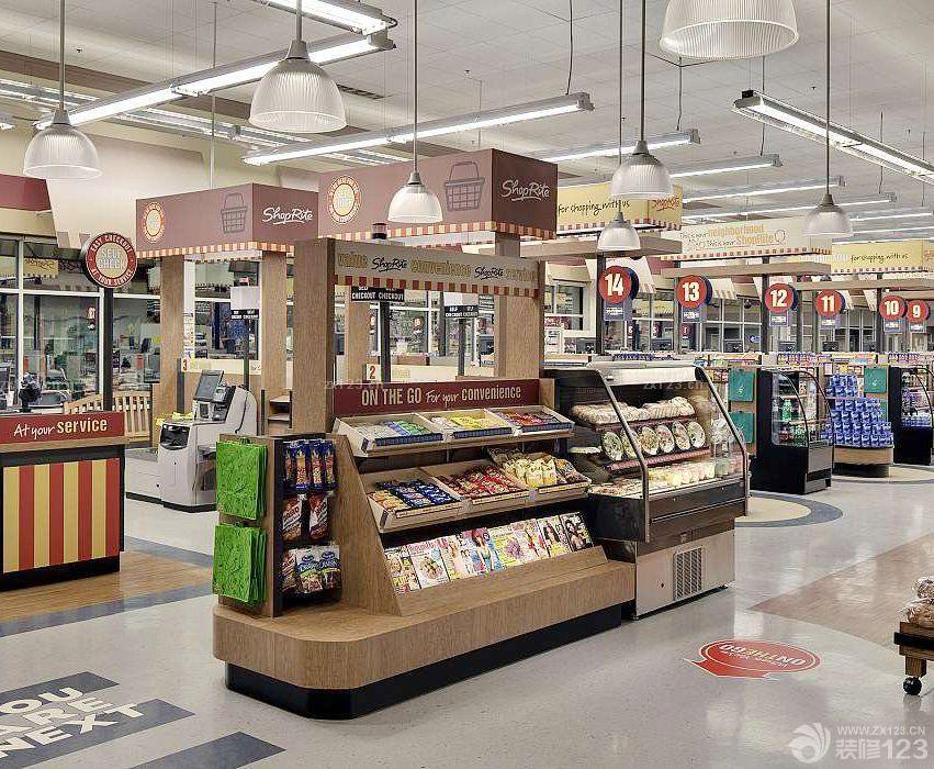国外大型超市室内装饰效果图图片