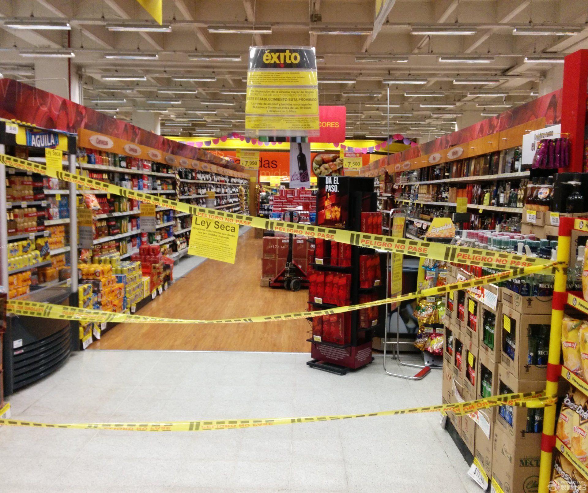 超市室内吊顶装修效果图大全