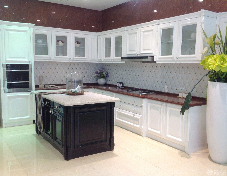 西式厨房墙面瓷砖装修效果图片