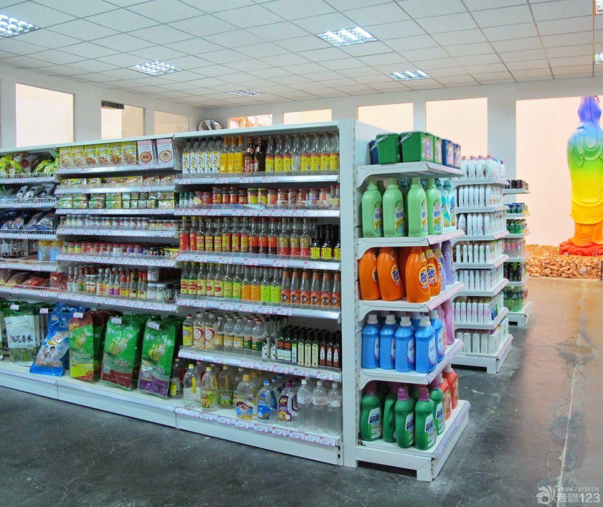 现代小超市货架陈列设计装修效果图图片