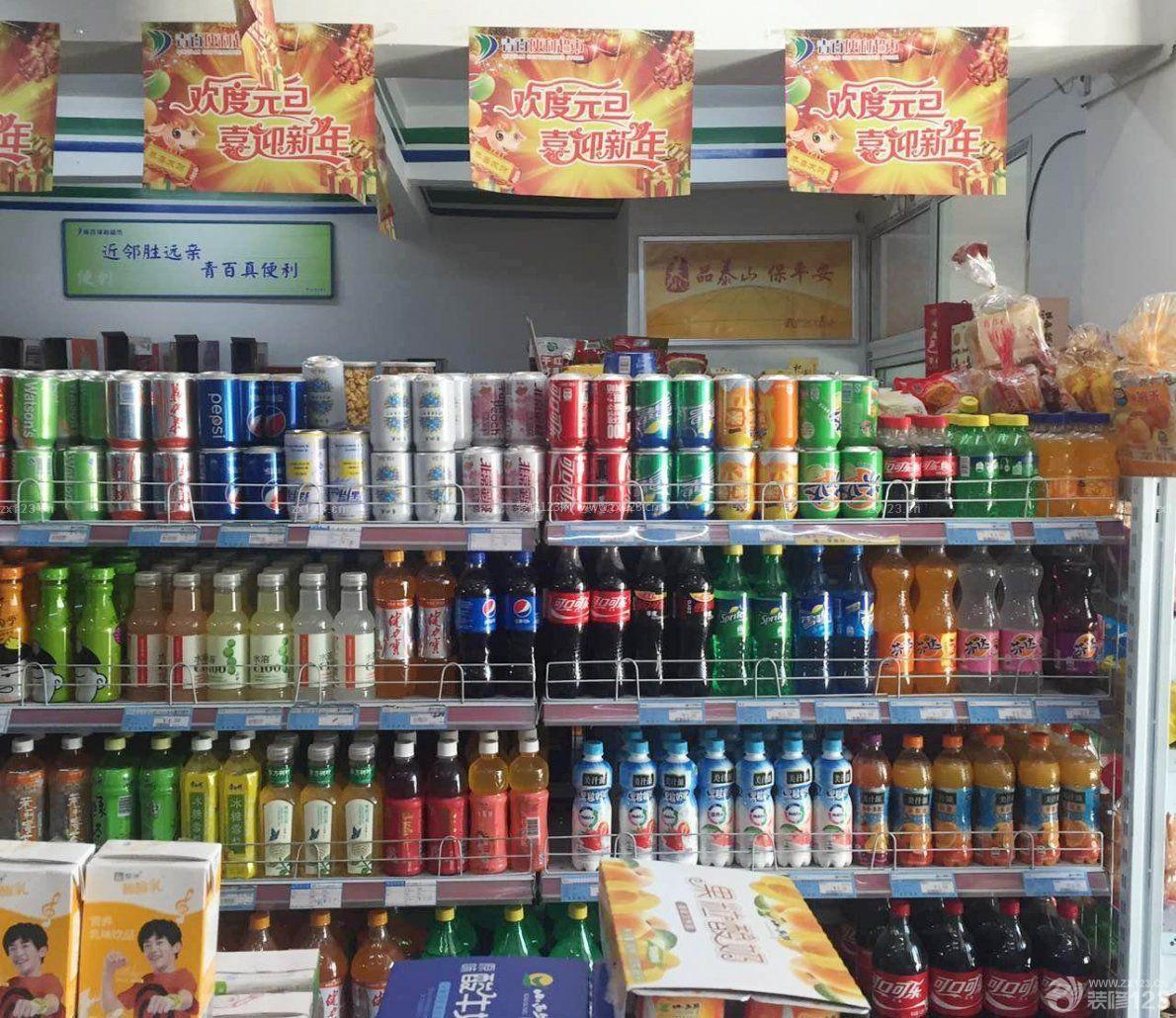 简约小超市货架装修设计效果图图片