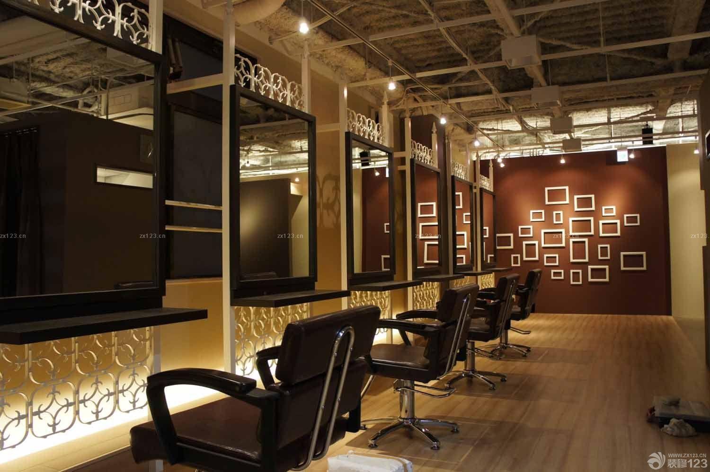 小型理发店面室内装修墙纸图片