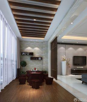 大型别墅设计客厅和阳台之间的门装修效果图片