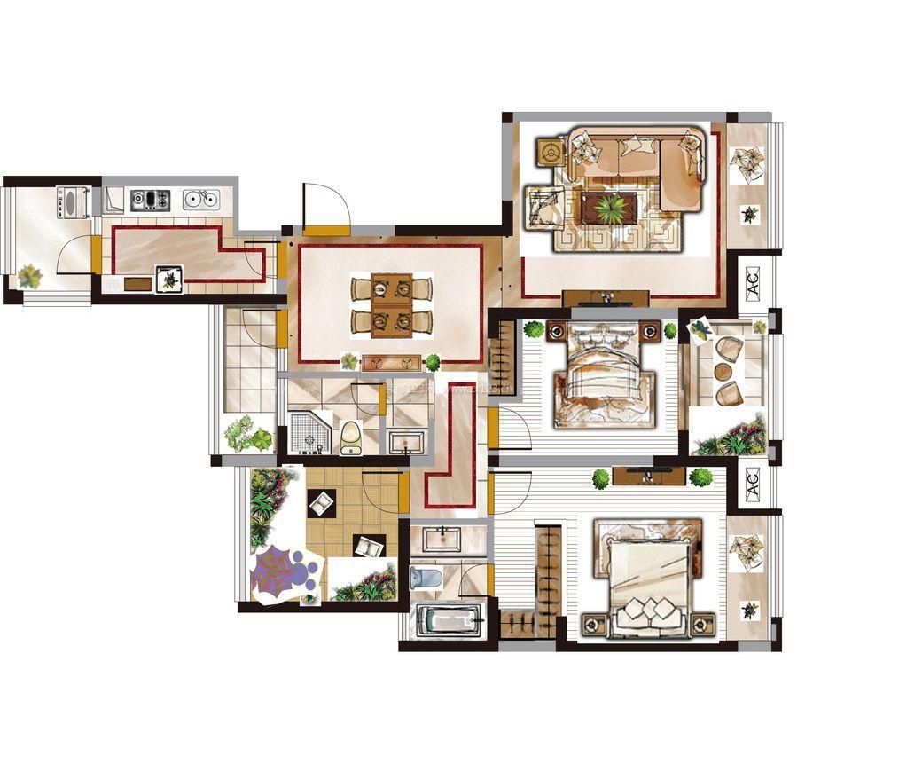 高档别墅厨房设计平面图