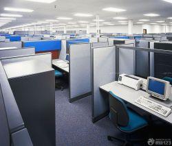 簡單辦公室屏風辦公桌裝修圖片大全