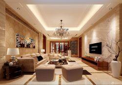 新古典別墅客廳裝飾畫裝修設計圖片