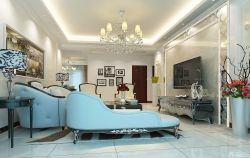歐式新古典家庭客廳裝飾畫圖片