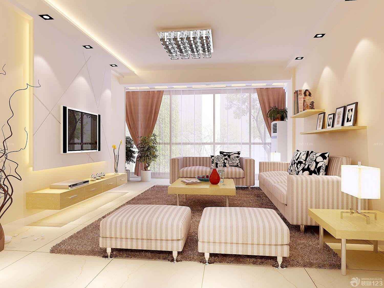 现代室内客厅吊顶装修图