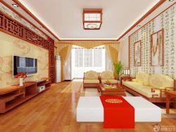 中式新古典客廳裝飾畫裝修案例