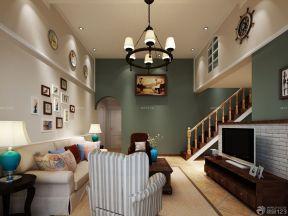 客廳電視背景墻效果圖 美式家裝效果圖