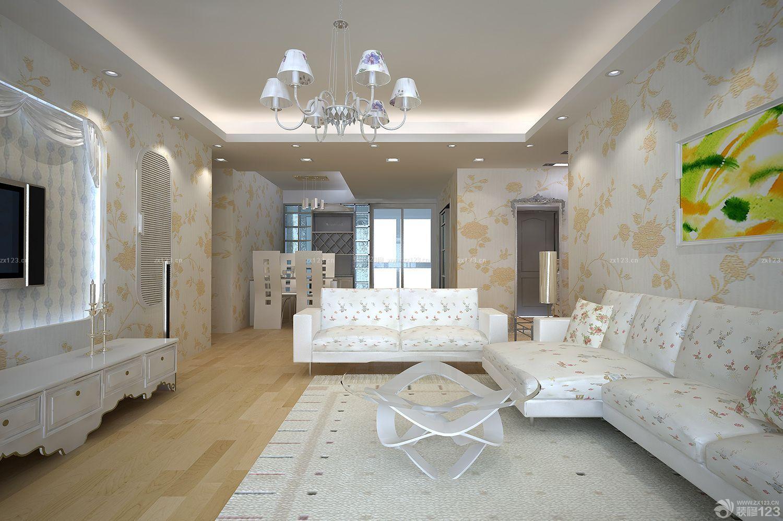 现代客厅硅藻泥电视背景墙装修效果图片