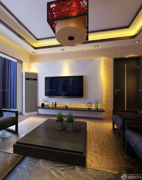 客廳效果圖 中式新古典裝修