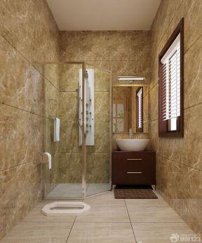 小卫生间装修图片 浴室玻璃门图片