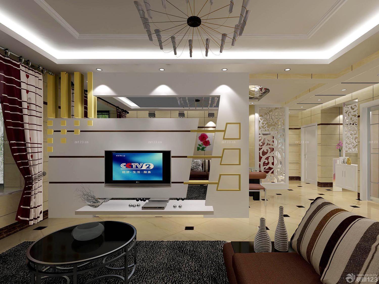 现代客厅电视墙隔断装修效果图片欣赏