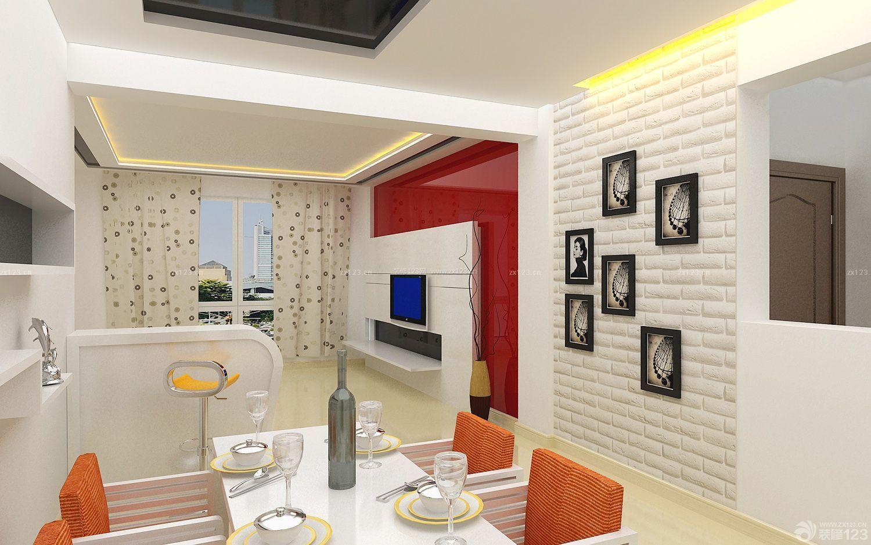 家居客厅石膏板电视背景墙装修效果图