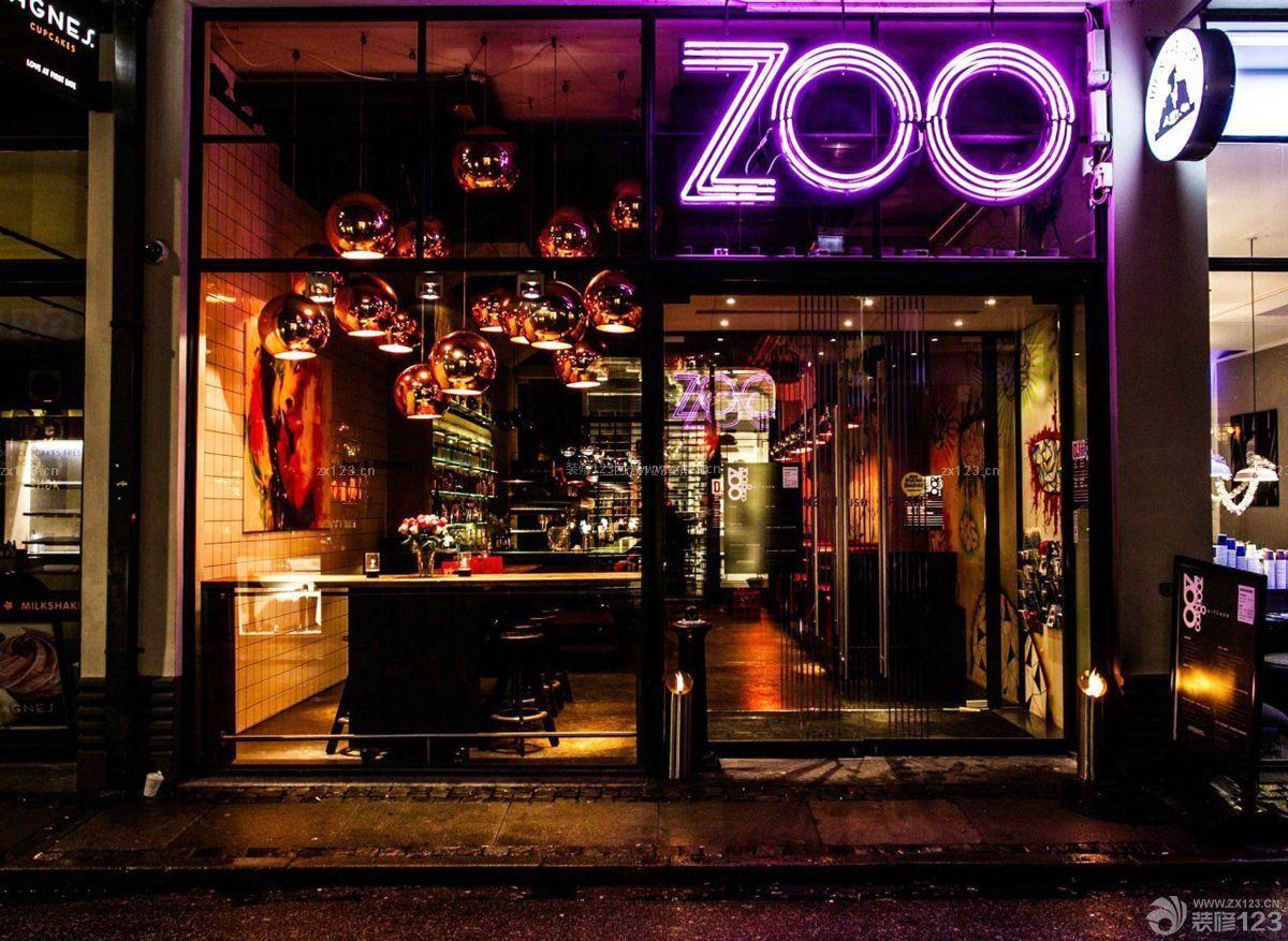 酒吧门头灯光设计效果图